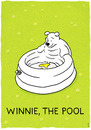 Cartoon: Winnie the pool (small) by markus-grolik tagged merchandising pool products for kids children classical garden gardening summer meadow water bathing