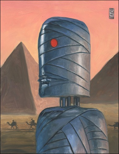 Cartoon: mech-mummy (medium) by greg hergert tagged mummy,egypt