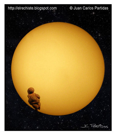 Cartoon: Venus transit (medium) by Juan Carlos Partidas tagged venus,transit,transito,planetas,sol,sun,space,espacio,astronomia,astronomy,event