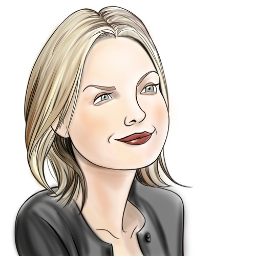 Cartoon: Michelle Pfeiffer Portrait (medium) by condemned2love tagged michelle,pfeiffer,caricature,portrait
