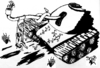 Cartoon: Future of Warfare (small) by trebortoonut tagged military,politics,peace,warfare,war