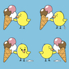 Cartoon: like ice (small) by Bartzillus tagged ice,eis,bird,vogel,summer,sommer