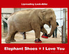 Cartoon: Elephant Shoes - I Love You (small) by Hearing Care Humor tagged lipreading,speechreading,hearing,deaf,elephant,shoes,love