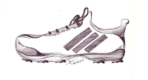 Cartoon: golfshoe 1 (medium) by pjg tagged pjg,zeichnung,karikatur,bild,drawing,image,picture,golfschuh,schuh,shoe,golfshoe,golf