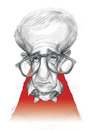 Cartoon: Woody allen (small) by ricearaujo tagged woody,allen,caricature,pencil,draw