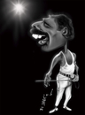 Cartoon: Freddie Mercury (small) by jaime ortega tagged freddie,mercury,queen