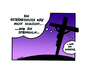 Cartoon: Thoughts On The Cross (small) by Marcus Trepesch tagged jesus,cross,crucifixion,religion,cartoon