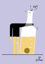 Cartoon: Alcohol (small) by Tonho tagged vice,alcohol,bottle
