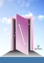 Cartoon: Door drawings impossible (small) by Tonho tagged drawings,impossible,door,escher