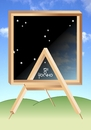 Cartoon: frame and easel (small) by Tonho tagged frame,picture,easel,penrose,night,day