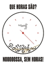 Cartoon: hours without (small) by Tonho tagged clock