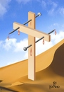 Cartoon: Nailing on the cross (small) by Tonho tagged cross,nail,passion,of,christ,la,escher
