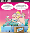 Cartoon: Still at large 71 (small) by bindslev tagged just,married,honeymoon,honeymoons,affair,affairs,adulterer,adulterers,adultery,sex,life,wedding,weddings,day,days,bride,brides,groom,grooms,bridegroom,bridegrooms,cheat,cheats,cheating,double,wife,swap,swaps