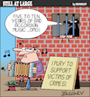 Cartoon: Still at large 80 (small) by bindslev tagged accordion,accordions,musician,musicians,musical,instrument,instruments,player,players,crime,crimes,criminal,criminals,victim,victims,punishment,punishments,convict,convicts,sentence,sentences,jail,jails,gaol,gaols,prison,prisons,cruel
