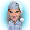 Cartoon: Roger Federer (small) by funny-celebs tagged roger federer tennis player atp grand slam champion mirka basel switzerland