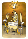 Cartoon: at dinner (small) by Pecchia tagged cartoon,humor,pecchia