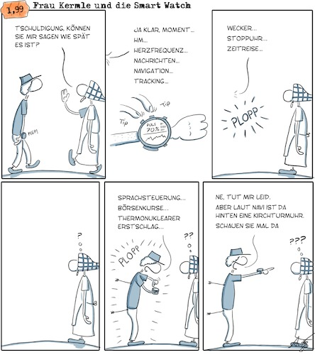 Cartoon: Smart watch (medium) by Anjo tagged smart,watch,uhr,digital,quantified,self,selbstoptimierung,navigation,uhrzeit,smart,watch,uhr,digital,quantified,self,selbstoptimierung,navigation,uhrzeit