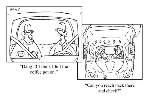 Cartoon: running late (medium) by creative jones tagged ready,getting,morning,coffee,coffee,morning,getting,ready