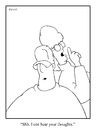Cartoon: shh (small) by creative jones tagged thinking,thoughts