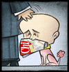 Cartoon: Alfonso Signorini (small) by Giacomo tagged alfonso,signorini,berlusconi,dog,servant,journalist,lies,giacomo,cardelli