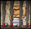 Cartoon: Berlusconi (small) by Giacomo tagged berlusconi,silvio,prison,jail,bars,prostitution,legs,sex,money,policy,italy,women,minors,heels,socks,lombrio,giacomo,cardelli