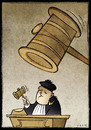 Cartoon: Justice (small) by Giacomo tagged justice,judgement,hammer,court,magistrate,read,giacomo,cardelli