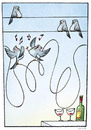 Cartoon: masts and wine (small) by Giacomo tagged wine,pylons,birds,drink,drunk,giacomo,cardelli,lombrio,jack