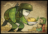 Cartoon: Peace is served (small) by Giacomo tagged war,peace,mission,profugni,iraq,afghanistan,dove,olive,tree,flat,giacomo,cardelli,lombrio