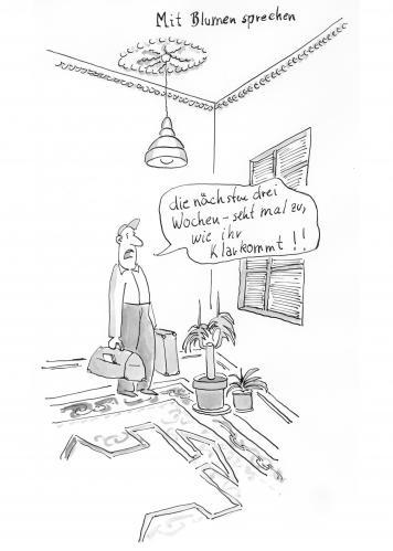 mit blumen sprechen van polo philosophy cartoon toonpool. Black Bedroom Furniture Sets. Home Design Ideas