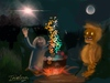 Cartoon: Praying (small) by George Trialonis tagged concept,art,trialonis,praying,merlin,night,other,world