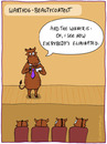 Cartoon: BEAUTYCONTEST (small) by fcartoons tagged beauty,contest,warthog,pig,model,winner