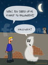 Cartoon: Halloween (small) by fcartoons tagged halloween,brick,cartoon,comic,ghost,moon,night,wall,wow