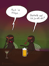 Cartoon: Mach ne Fliege (small) by fcartoons tagged anmachen,baggern,bar,bier,cartoon,dark,fly,night,pub,pun,cocktail,dunkel,fliege,flirten,kneipe,lustig,theke,trinken