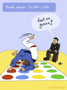 Cartoon: NEW SPORT (small) by fcartoons tagged new sport olympic ref judo twister yellow green red blue game fcartoons cartoon comic judoka