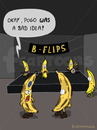 Cartoon: ON THE CONCERT (small) by fcartoons tagged concert,gig,pogo,banana,banane,konzert,faul,flecken,braun,green,gelb,piercing,stage,flips