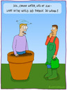 Cartoon: Patrick (small) by fcartoons tagged patrick,flower,seeds,corpse,pot,gardener,watering,apron