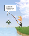 Cartoon: Pescetarier (small) by fcartoons tagged pescetarier,fisch,angel,angler,scheiß,blond,hose,stiefel,beleidigen