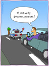Cartoon: Polizeikontrolle (small) by fcartoons tagged polizei,kontrolle,verkehr,twitter,iphone,folge,mir,follow