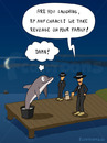 Cartoon: REVENGE (small) by fcartoons tagged revenge,cement,dolphin,family,harbor,jetty,landing,mafia,port,stage,bootssteg,cartoon,delfin,delphin,dunkel,mond,nacht,rache,sonnenbrille,steg,zement