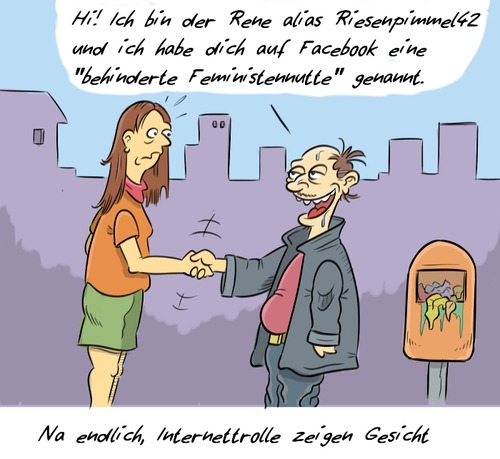Cartoon: Hashtag nichtegal (medium) by Rob tagged post,facebook,zensur,müll,kommentar,speach,hate,hass,web,internet,troll