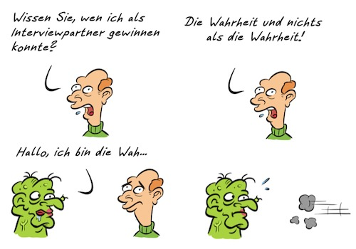 Cartoon: Kommentar Wahrheit (medium) by Rob tagged kommentar,commentary,wahrheit,truth,ugly,hässlich