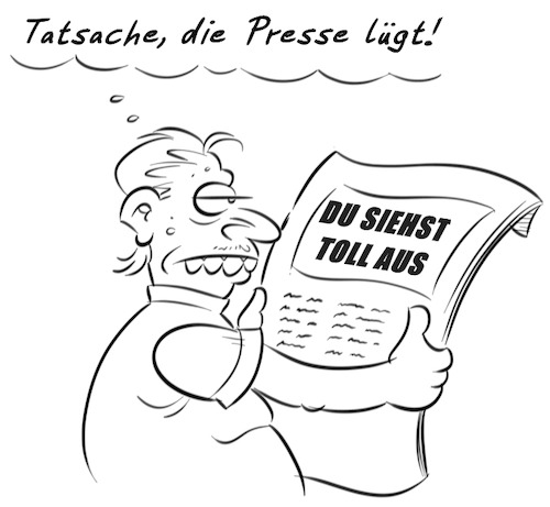 Cartoon: Presse (medium) by Rob tagged presse,press,lügenpresse,zeitung,paper,hässlich,ugly