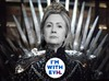 Cartoon: The Dark Queen (small) by Rob tagged hillary,clinton,us,usa,wahl,election,president,präsident,cercei,game,of,thrones,queen,königin