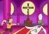 Cartoon: Vaticania (small) by Rob tagged vatican,vatikan,castlevania,belmont,papst,pope,cross,kreus,jesus,vampir,vampire,skelett,skeleton