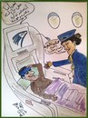 Cartoon: EGYPTAIR IN MY HEART (small) by AHMEDSAMIRFARID tagged egyptair,ahmed,samir,farid,cartoon,caricature