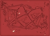 Cartoon: Red abstract- crystal mountains (small) by Krzychu tagged abstract red geometry graphic