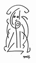 Cartoon: symbolic figure (small) by Krzychu tagged symbolic surpraised fantasy folk naive art look abstract figure creature