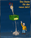 Cartoon: Prost Neues (small) by Hannes tagged neujahr,sylvester,bier,frohes,neues,raketen