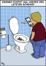 Cartoon: der letzte Scheiss (small) by pierre-cda tagged selfie,handy,mobile,foto,post,smartphone,bilder,toilette,posten