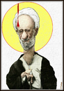 Cartoon: Saint Mesbah (small) by Babak Massoumi tagged mesbah,yazi,islam,fundamentalism,iran,babak,massoumi